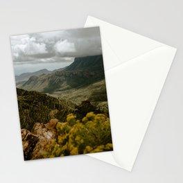 Vibrant Mountain Range Landscape, Big Bend Stationery Cards