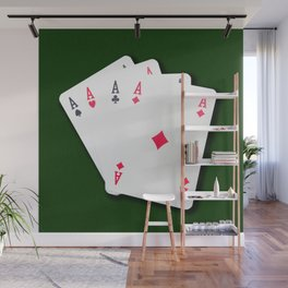 Poker of Aces Wall Mural