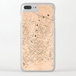 Vintage Map of Trenton NJ (1849) Clear iPhone Case