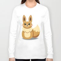 eevee Long Sleeve T-shirts featuring Evolution Bobbles - Eevee by creativeesc