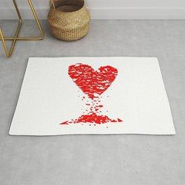 Shattered Lovers Heart Rug