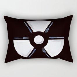 Polluted - Dinner Time Symbol Rectangular Pillow