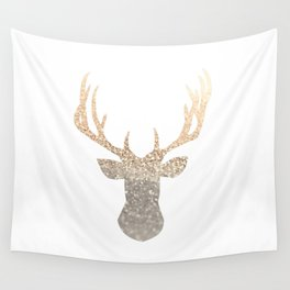 GOLD DEER Wall Tapestry
