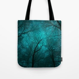 Simply Stare Upward (Dark Winter Sky) Tote Bag