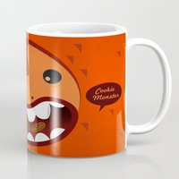 cookie monster Mugs featuring Cookie Monster by Ilias Sounas