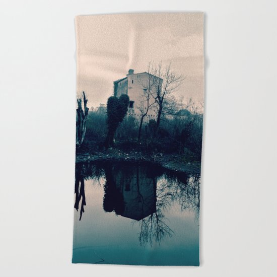 Wall on the Mirror Beach Towel