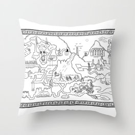 The Excavation Throw Pillow