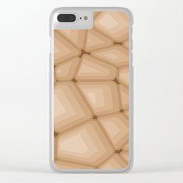 BROWN STONE Abstract Art Clear iPhone Case