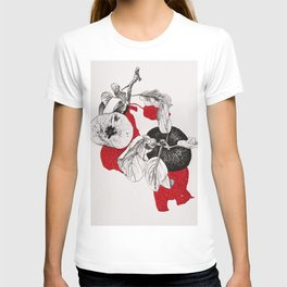 Apples with red shadows T-shirt