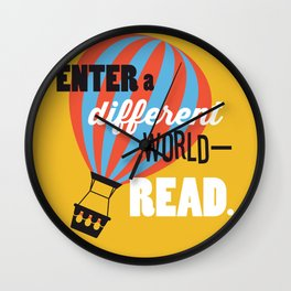 Different World - Just Read Wall Clock