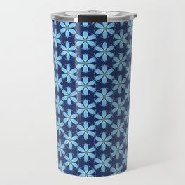 Pastel Blue Flower Travel Mug