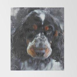 Cocker Spaniel dog #dog #spaniel Throw Blanket