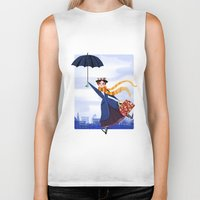 mary poppins Biker Tanks featuring Mary Poppins by giovanamedeiros