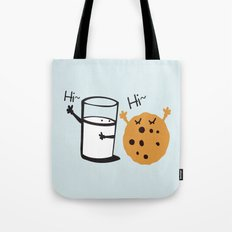 Hi Hi milk and cookie Tote Bag