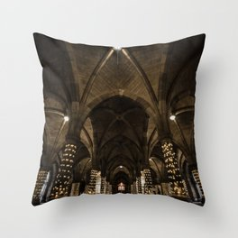 Glasgow University Cloisters Throw Pillow
