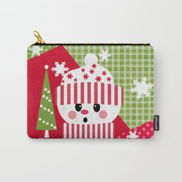 Snowman. Patchwork 1 Carry-All Pouch
