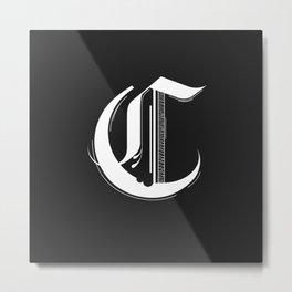 Letter C Metal Print