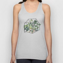 greenhouse with plants Unisex Tanktop