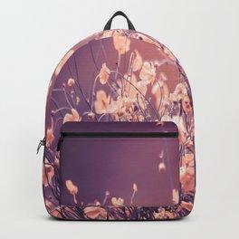Delicate Flowers Purple Tones Background #decor #society6 #buyart Backpack