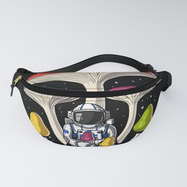 Space Astronaut Psychedelic Mushrooms Festival Fanny Pack