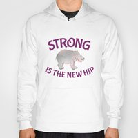 fitness Hoodies featuring Hippo Fitness by mailboxdisco