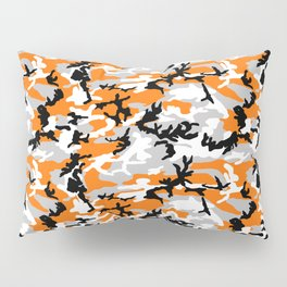 Orange Camouflage Pattern Pillow Sham