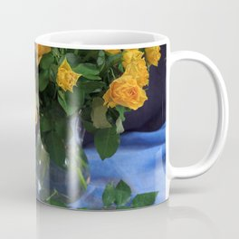 Still Life with Yellow Roses Bouquet Coffee Mug
