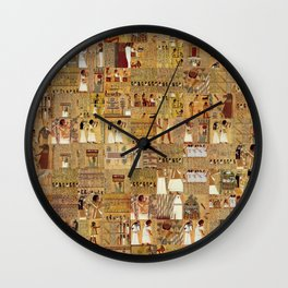 Egyptian Book of the Dead Wall Clock