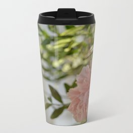 Pinkflower Metal Travel Mug