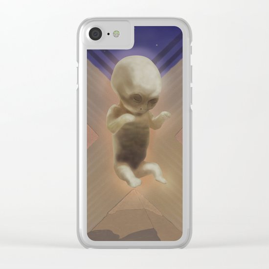 Ancient Baby Alien Clear iPhone Case