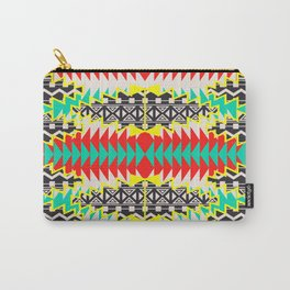 Tribal Beat Geo Neon Carry-All Pouch