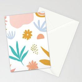 Retro Flower Art Stationery Cards