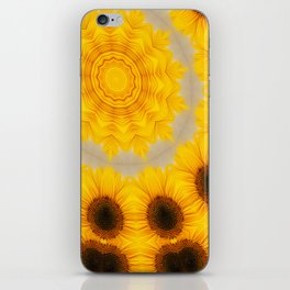 Sunflower and Bee Abstract iPhone Skin