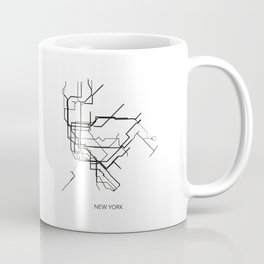 New York Subway Map Print New York Metro Map Poster,Subway Map Print,Metro Map Poster Coffee Mug