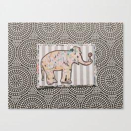 Elephant + Stripes Canvas Print