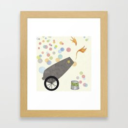 Rocket (in white) Framed Art Print