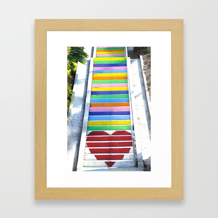 Micheltorena Stairs Framed Art Print