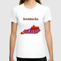 kentucky T-shirts featuring Kentucky Map by Roger Wedegis
