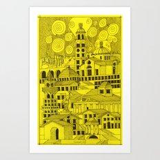 architectural fantasy_5 Art Print