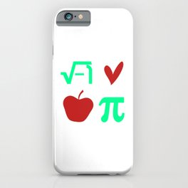 Funny Thanksgiving Math I Love Apple Pi or Pie Day Equation iPhone Case