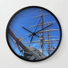 Old Sailing Ship Wall Clock