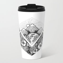 Geometric Nature Metal Travel Mug
