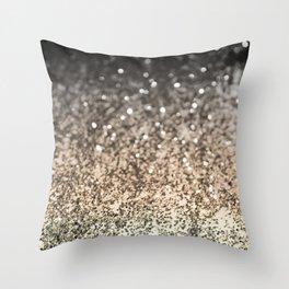 Sparkling GOLD BLACK Lady Glitter #2 #decor #art #society6 Throw Pillow