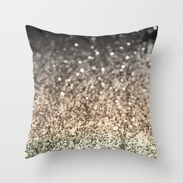 Sparkling GOLD BLACK Lady Glitter #2 #decor #art #society6 Throw Pillow