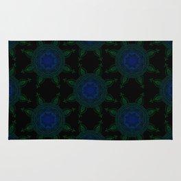 Blue and Green Mandala Rug