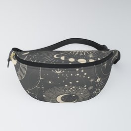 Sun and moon astrology pattern Fanny Pack