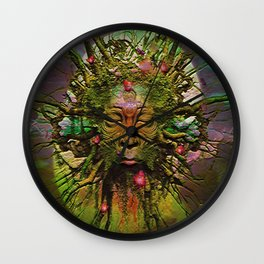 """"""" The nature acts, the man makes. """" Wall Clock"""