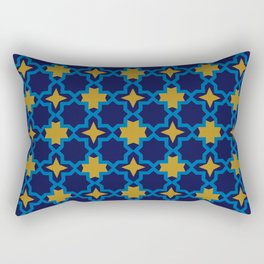 Moroccan seamless pattern, Morocco. Patchwork mosaic with traditional folk geometric ornament Rectangular Pillow