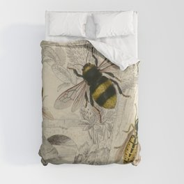 Naturalist Bee And Wasps Duvet Cover