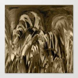 Unique Brown Abstract Canvas Print